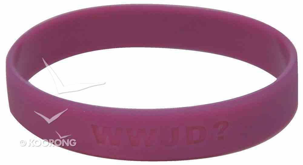 Silicon Wwjd Wristband Purple Novelty