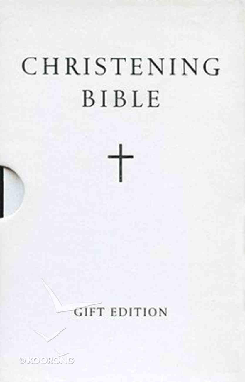 KJV Standard Christening Gift Bible With Slipcase Hardback