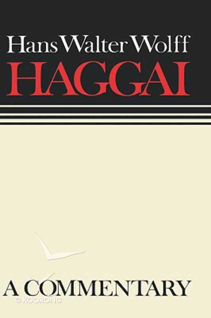 Haggai (Continental Commentary Series) Hardback