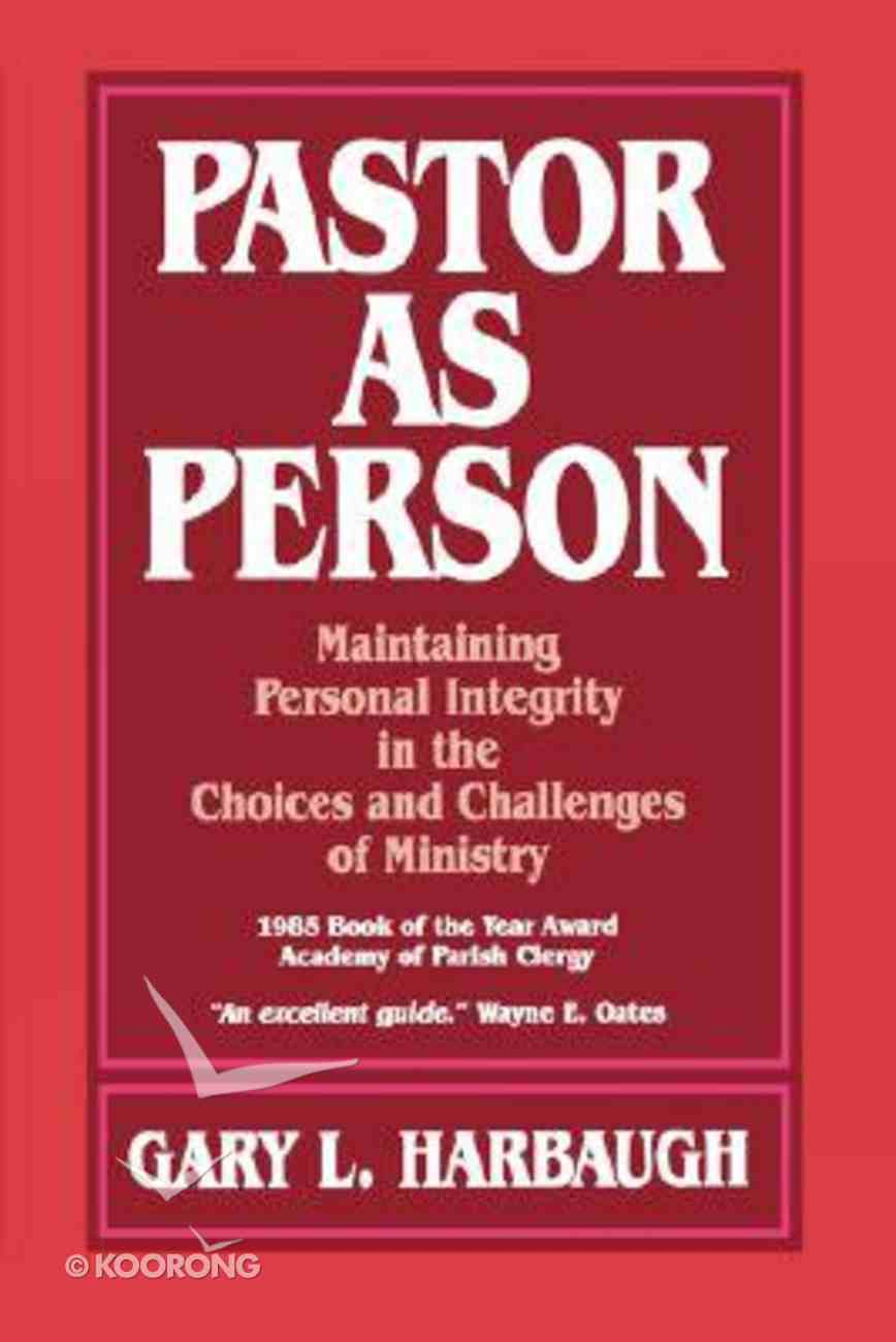 Pastor as Person Paperback