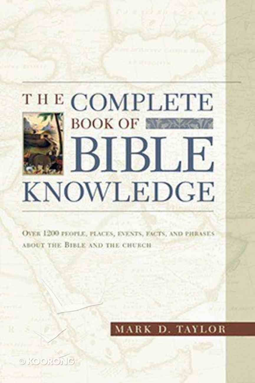 The Complete Book of Bible Literacy Paperback