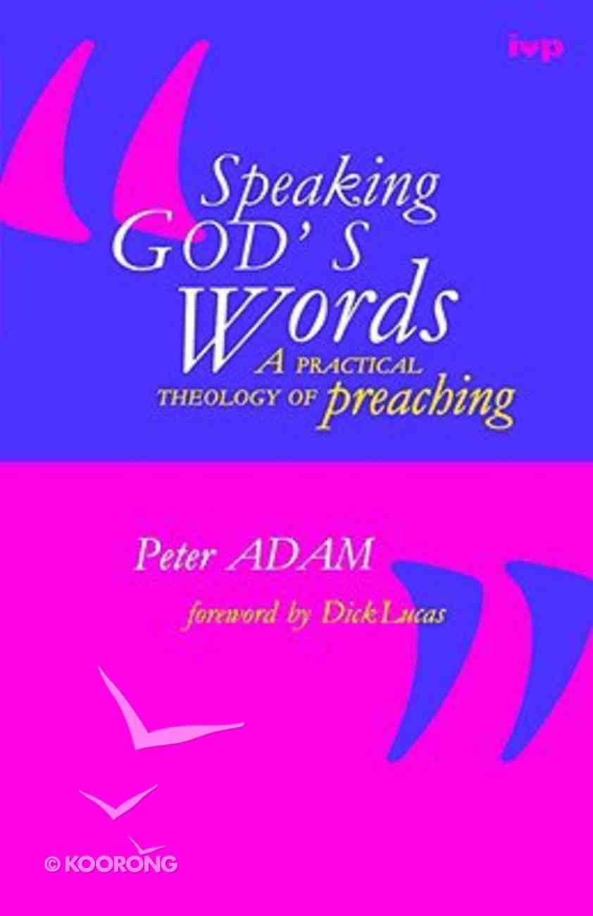 Speaking God's Words Paperback