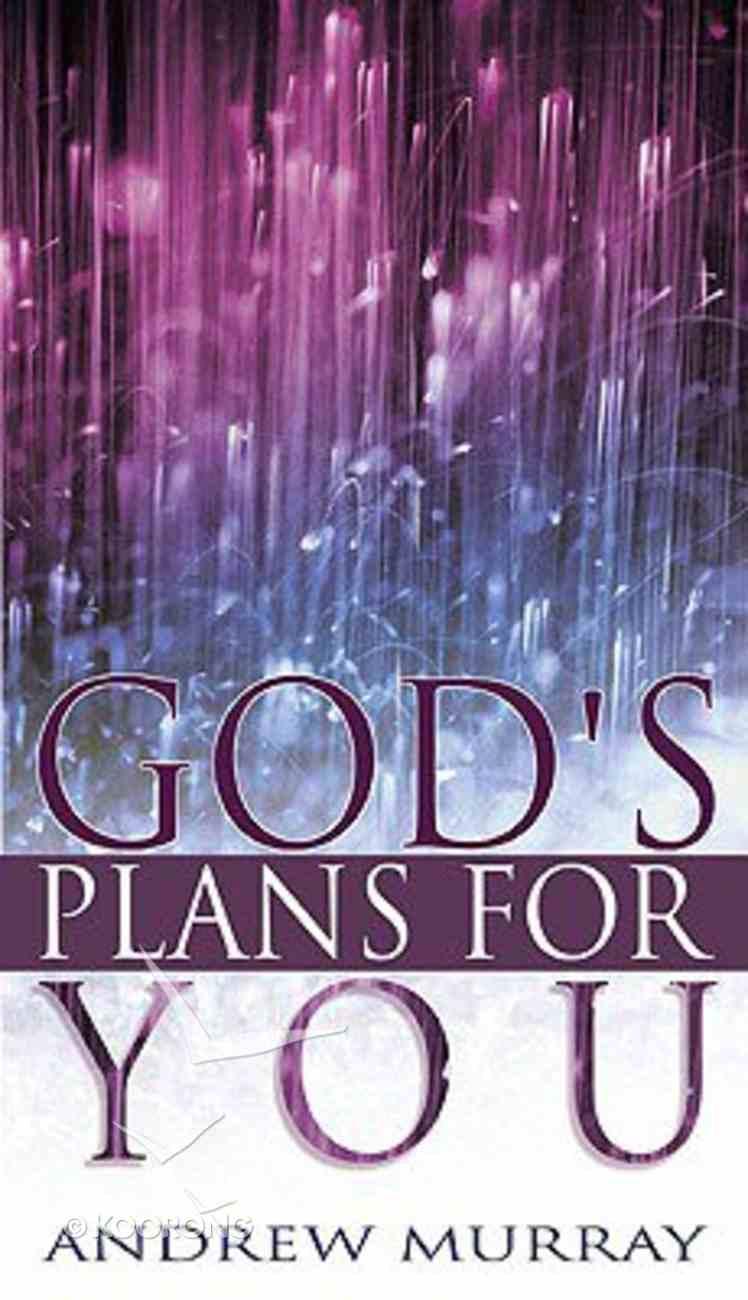 God's Plans For You Paperback