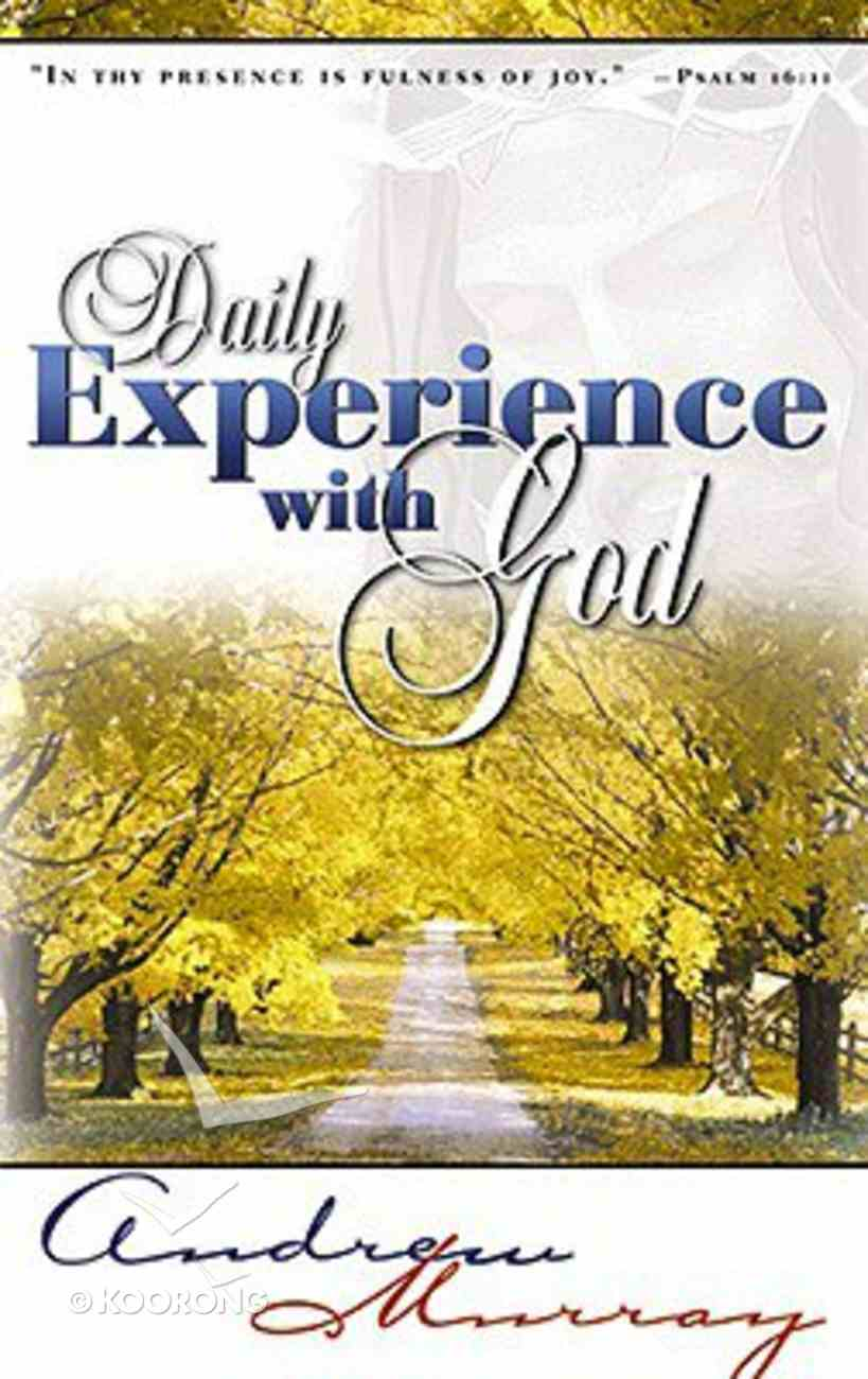 Daily Experience With God Paperback