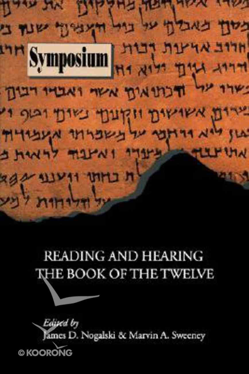 Reading and Hearing the Book of the Twelve Paperback