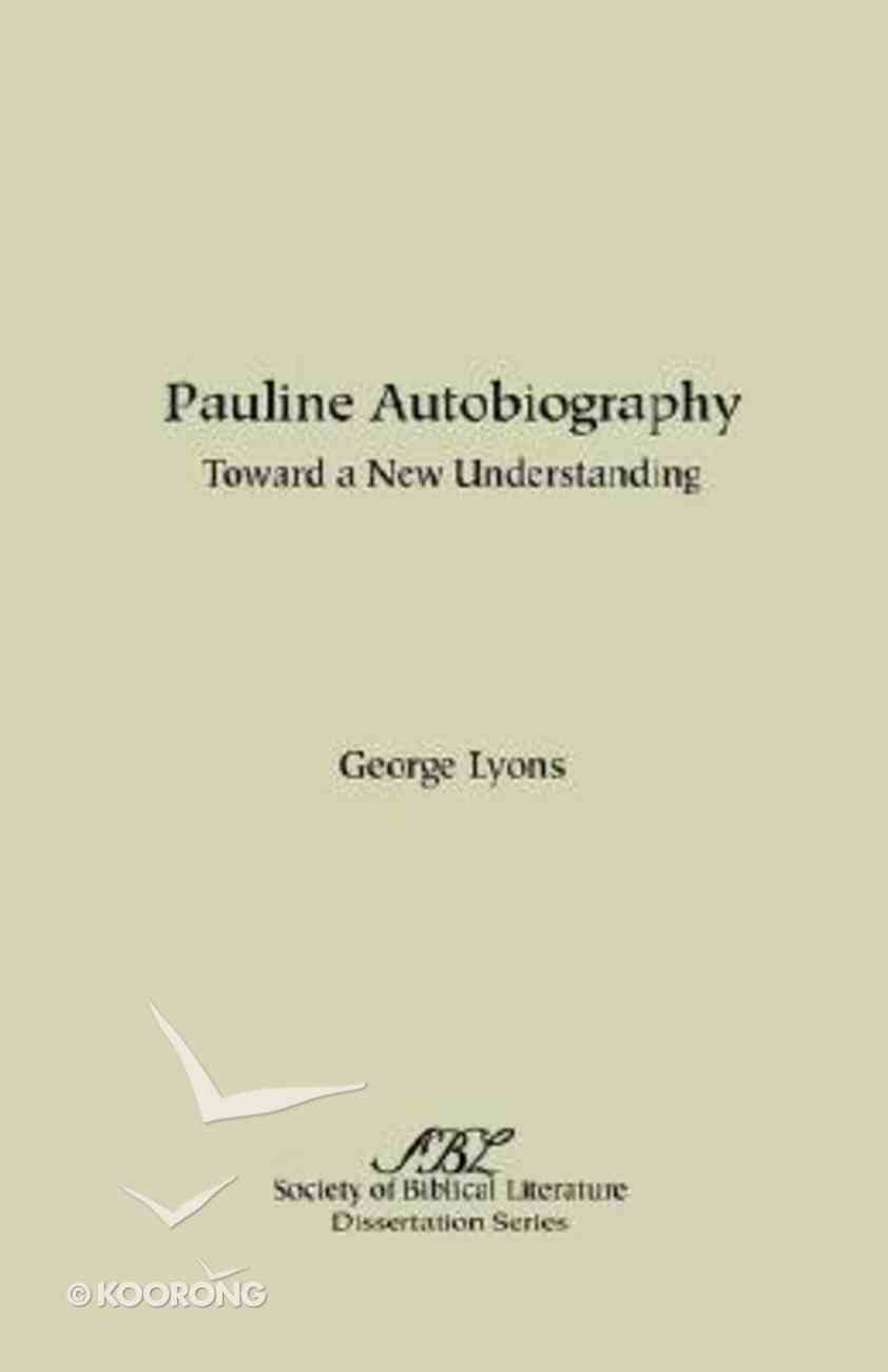 Pauline Autobiography Paperback