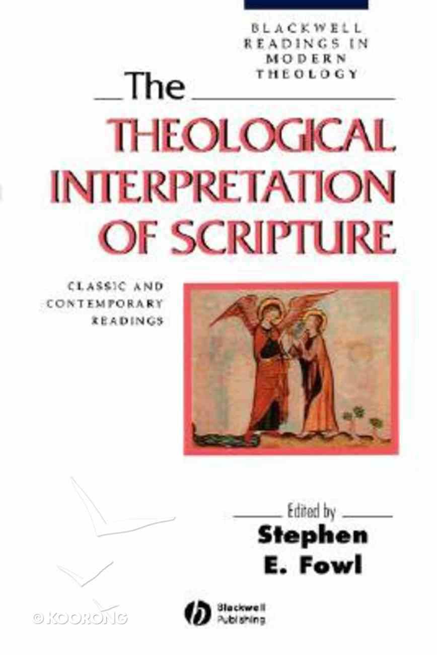 The Theological Interpretation of Scripture Paperback