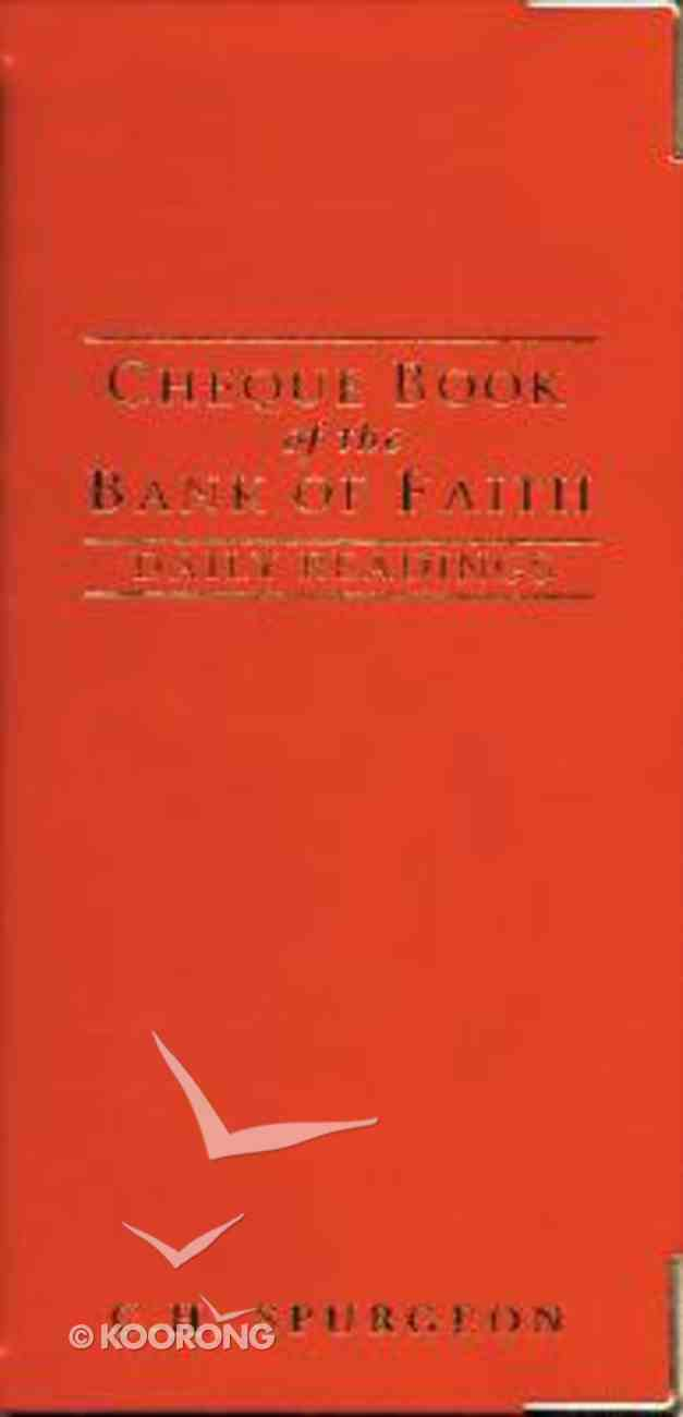 Cheque Book of the Bank of Faith Imitation Leather