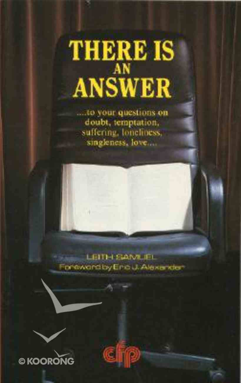 There is An Answer Paperback