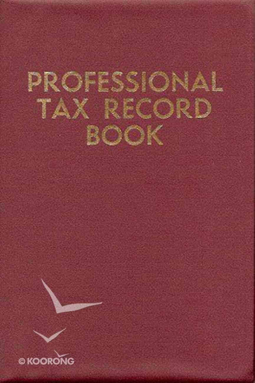 Professional Tax Record Book Hardback