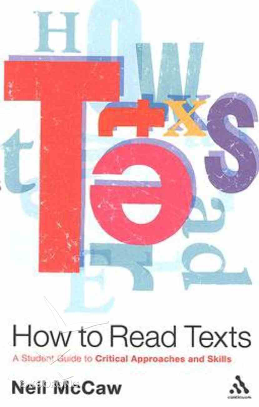 How to Read Texts Paperback