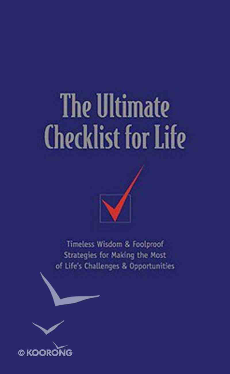 The Ultimate Checklist For Life (Checklist For Life Series) Hardback