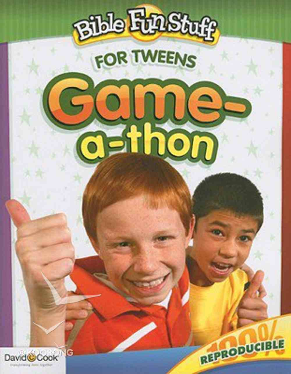 Game-A-Thon (Reproducible) (For Tweens) (Bible Fun Stuff Series) Paperback