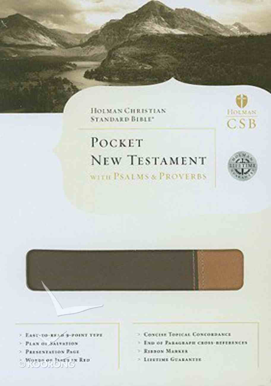 HCSB Pocket New Testament With Psalms and Proverbs Imitation Leather