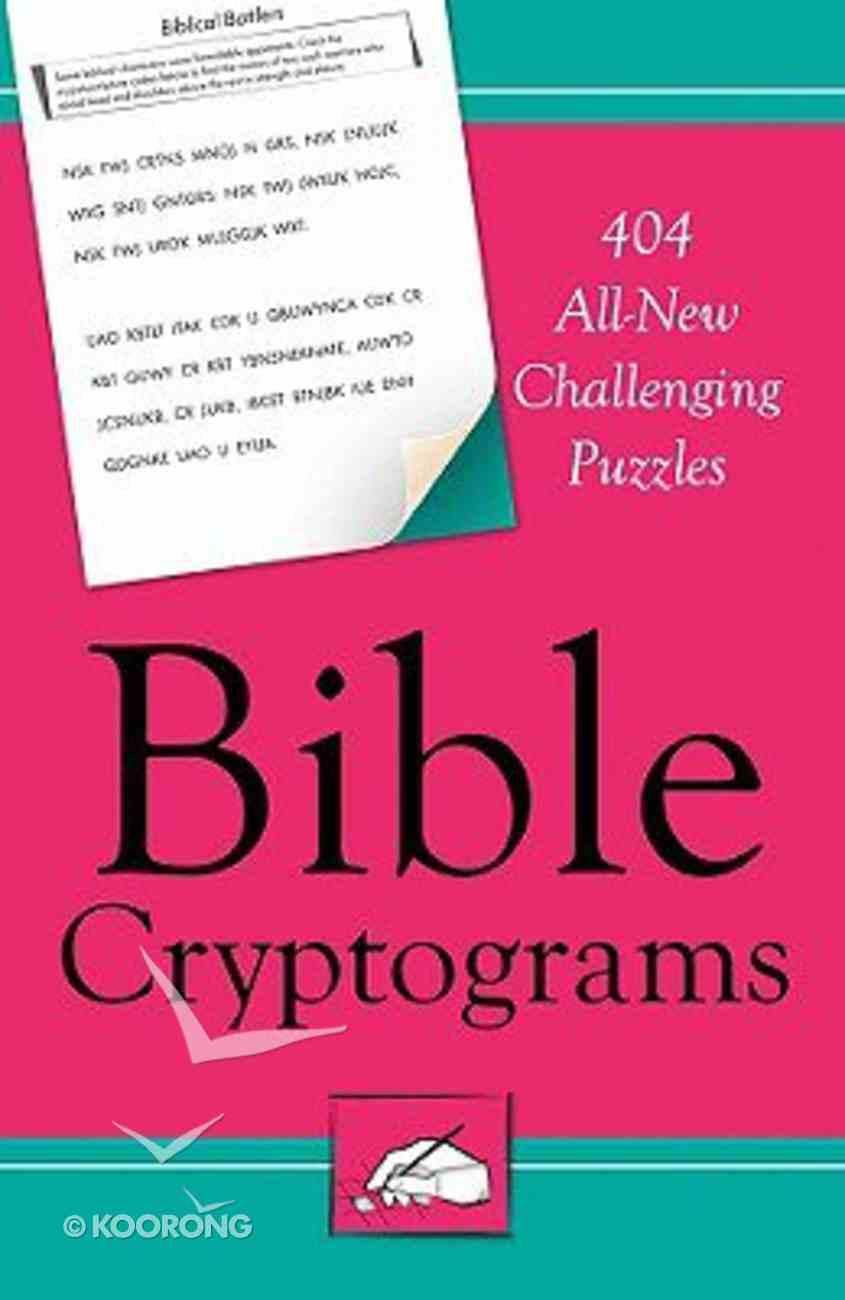 Bible Cryptograms Paperback