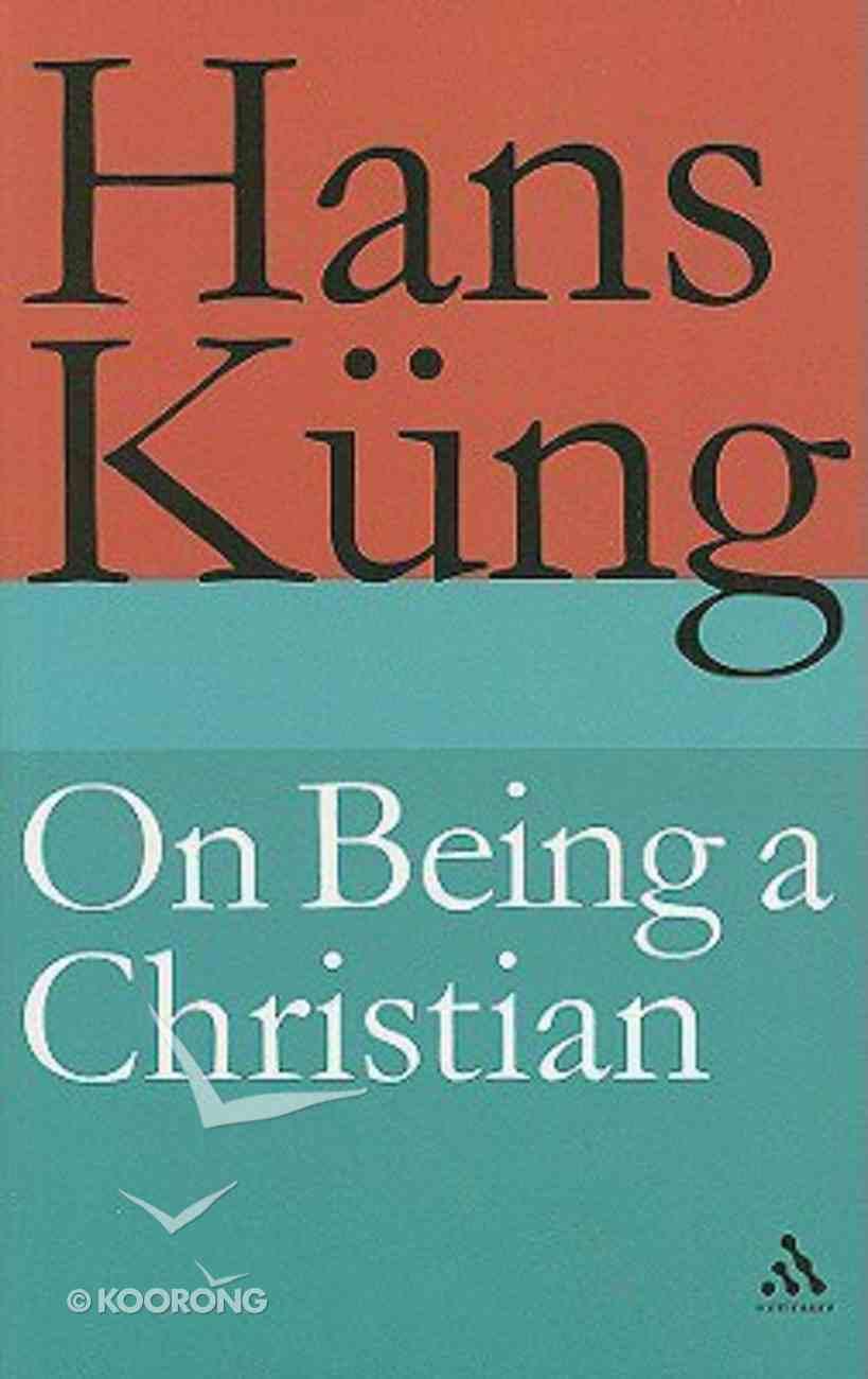On Being a Christian Hardback