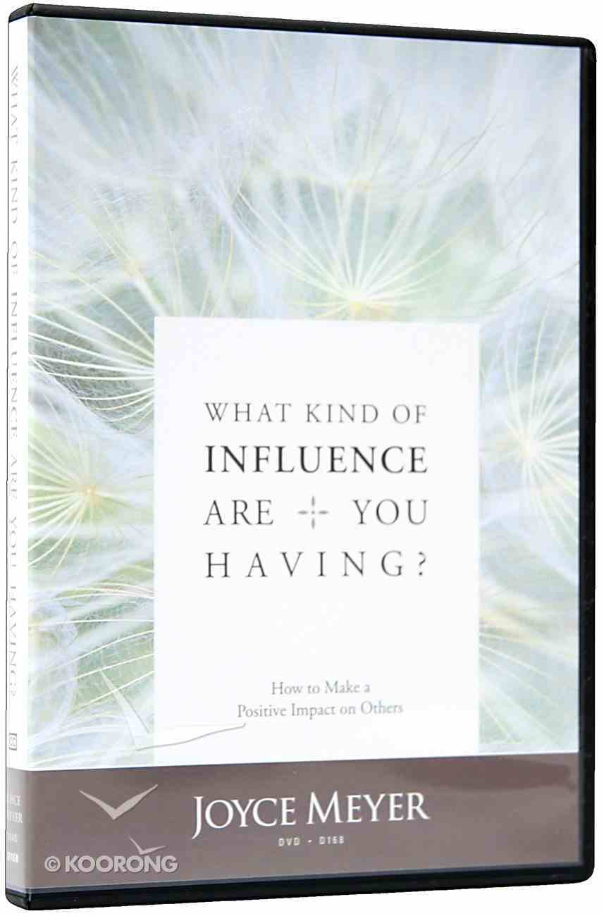 What Kind of Influence Are You Having? DVD
