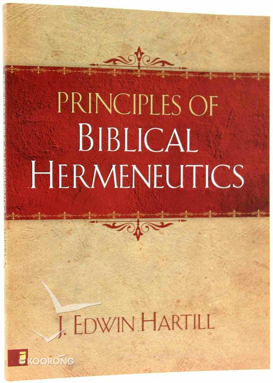 Principles of Biblical Hermeneutics Paperback