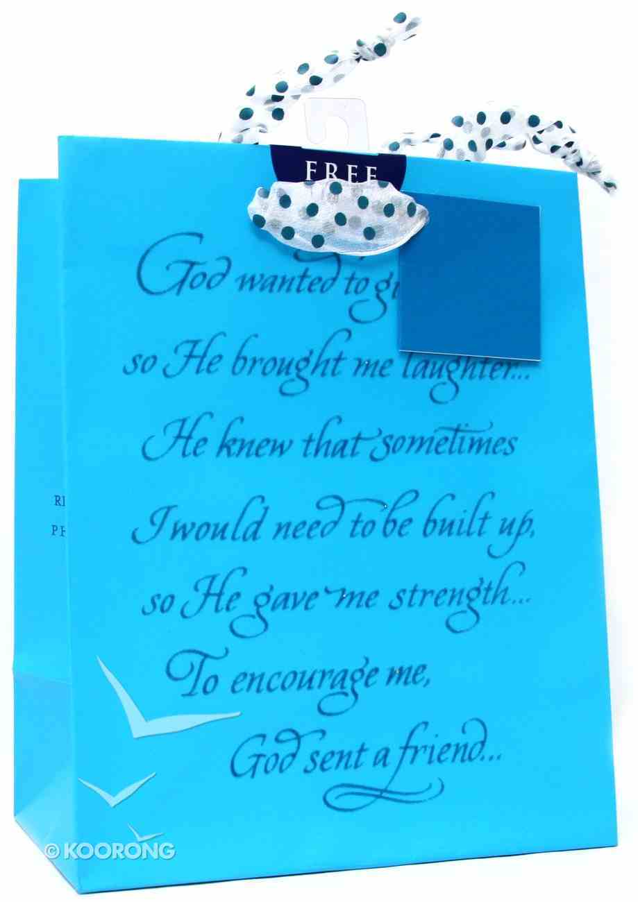 Gift Bag Medium: Blue Philippians 1:3 (Incl Tissue) Stationery