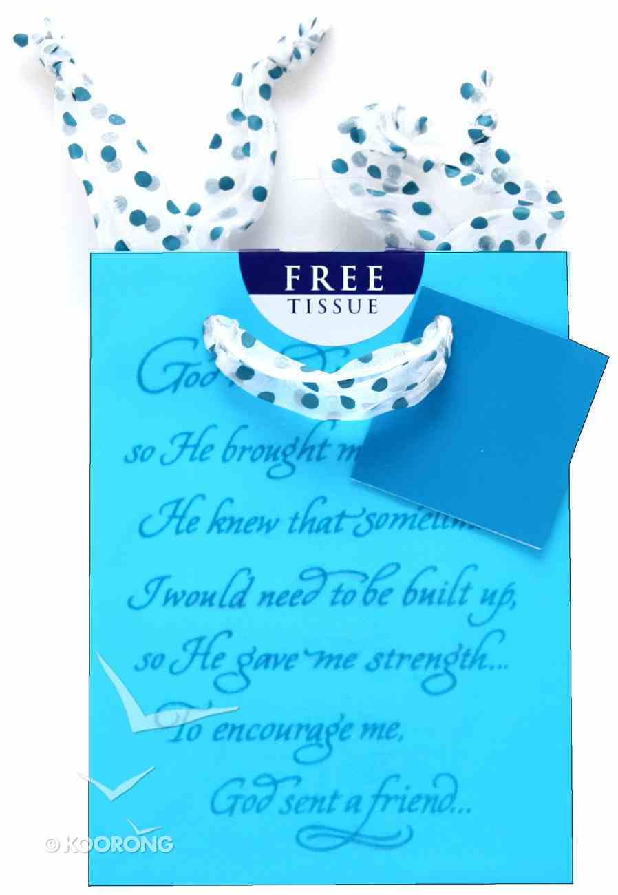 Gift Bag Small: Blue Philippians 1:3 (Incl Tissue) Stationery