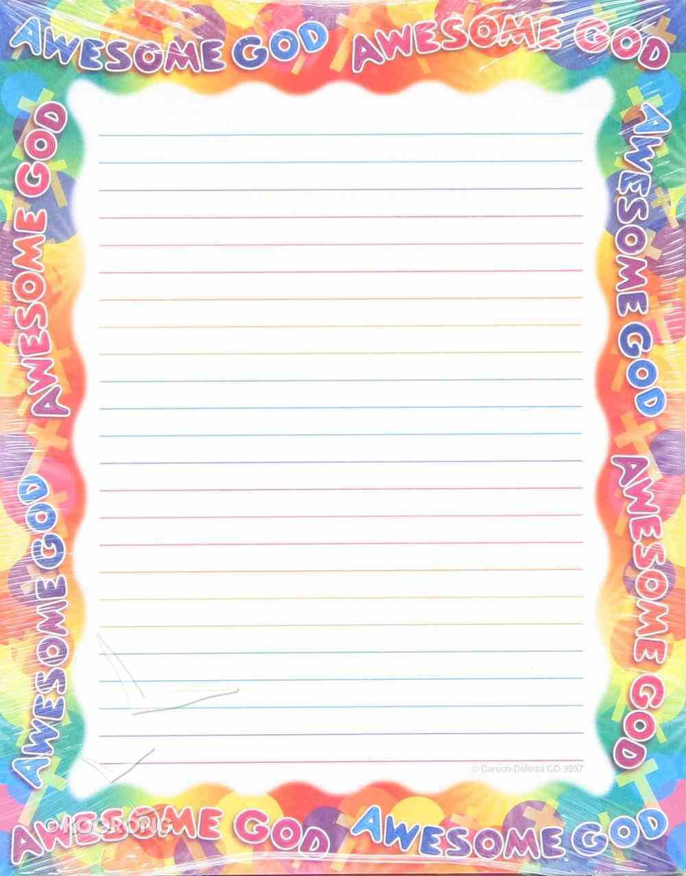 Notepad: Awesome God Stationery