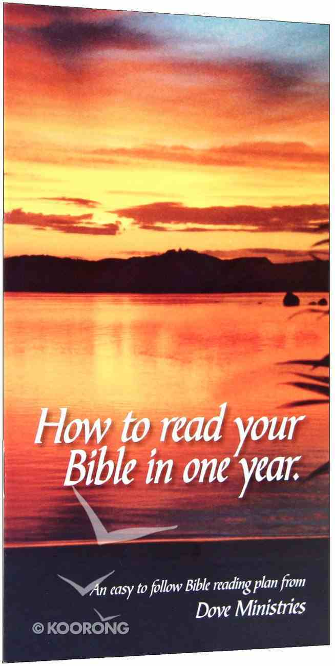 How to Read Your Bible in One Year Booklet