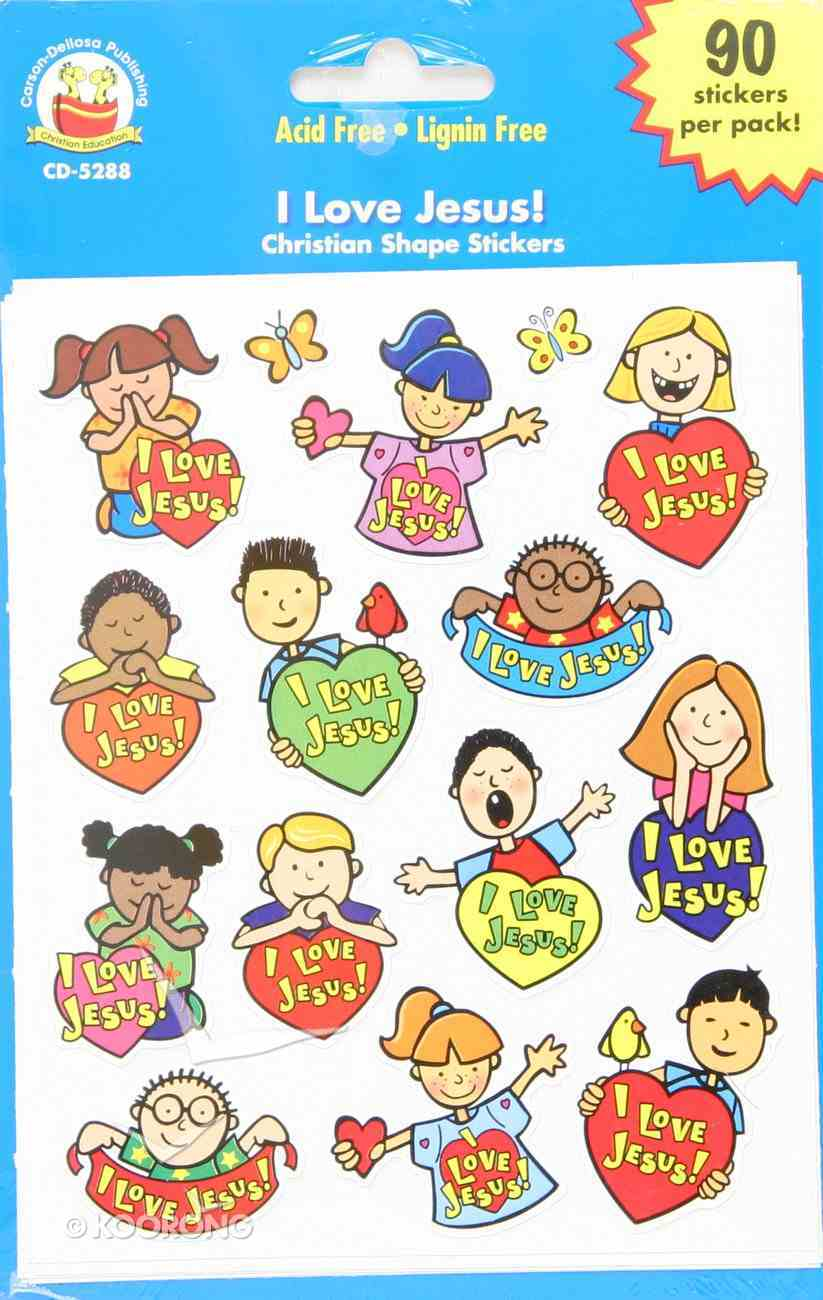 Sticker Pack: I Love Jesus! Novelty