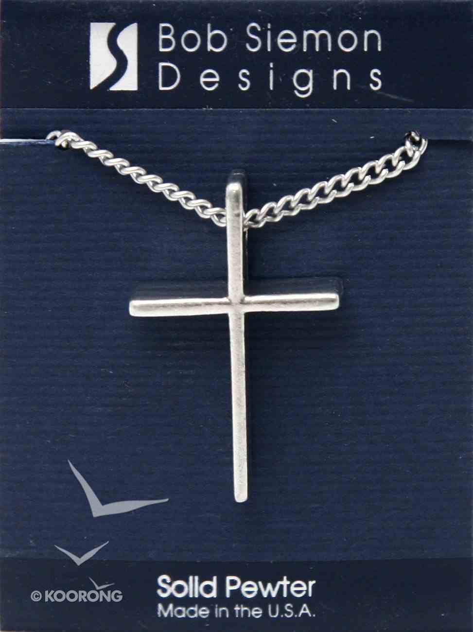 Pendant: Cross Basic X-Large (Pewter) Jewellery
