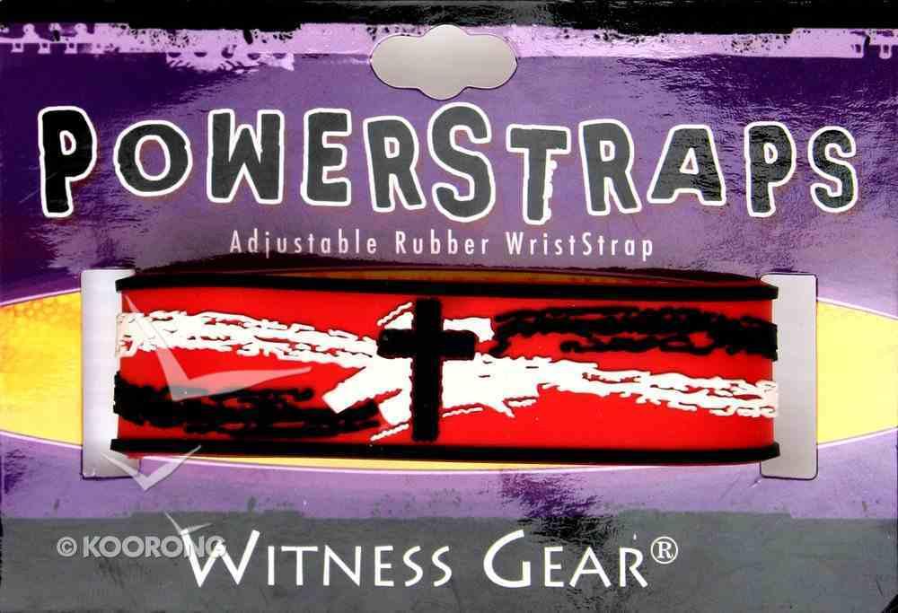 Rubber Wristband: Cross Jewellery