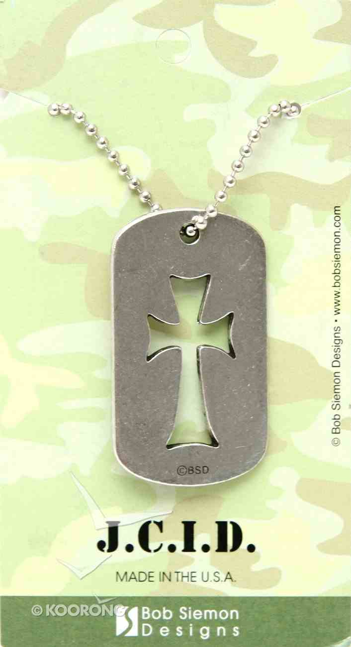 Tag Pendant: Angular Cross (Pewter) Jewellery