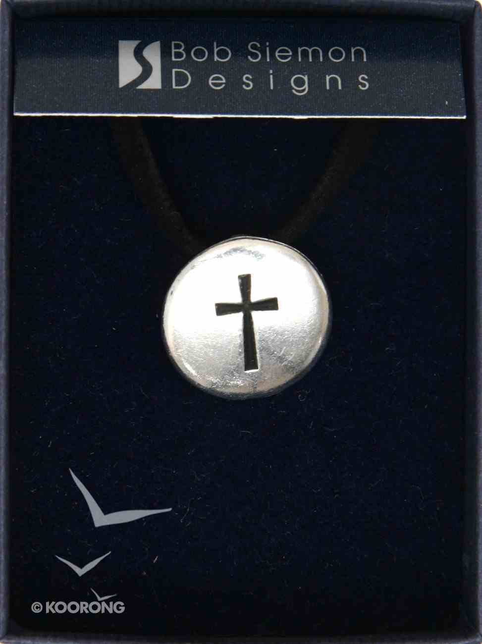 Pendant: Engraved Cross (Pewter Disk) Jewellery