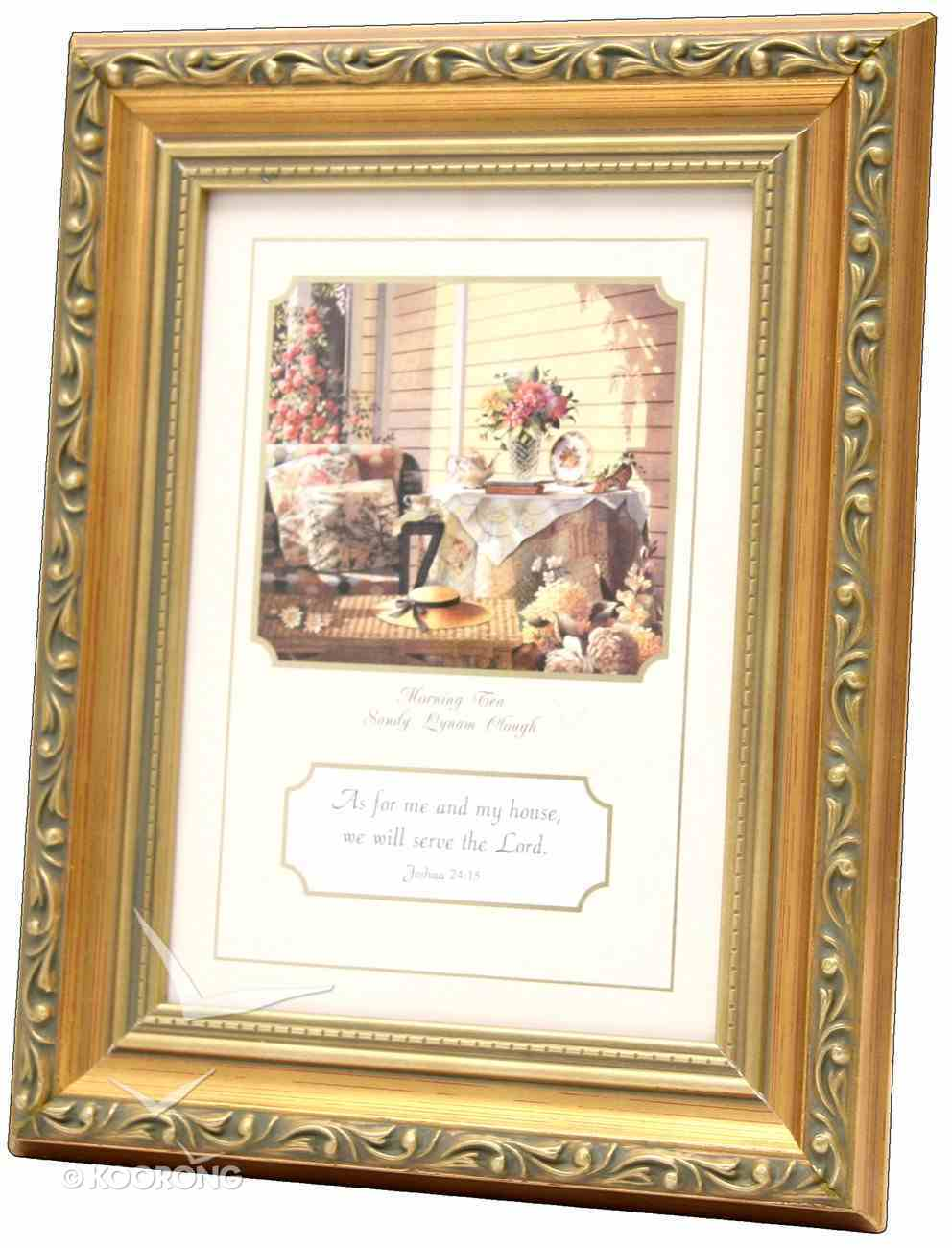 Framed Print With Scripture: Joshua 24:15 (As For Me & My House) Plaque