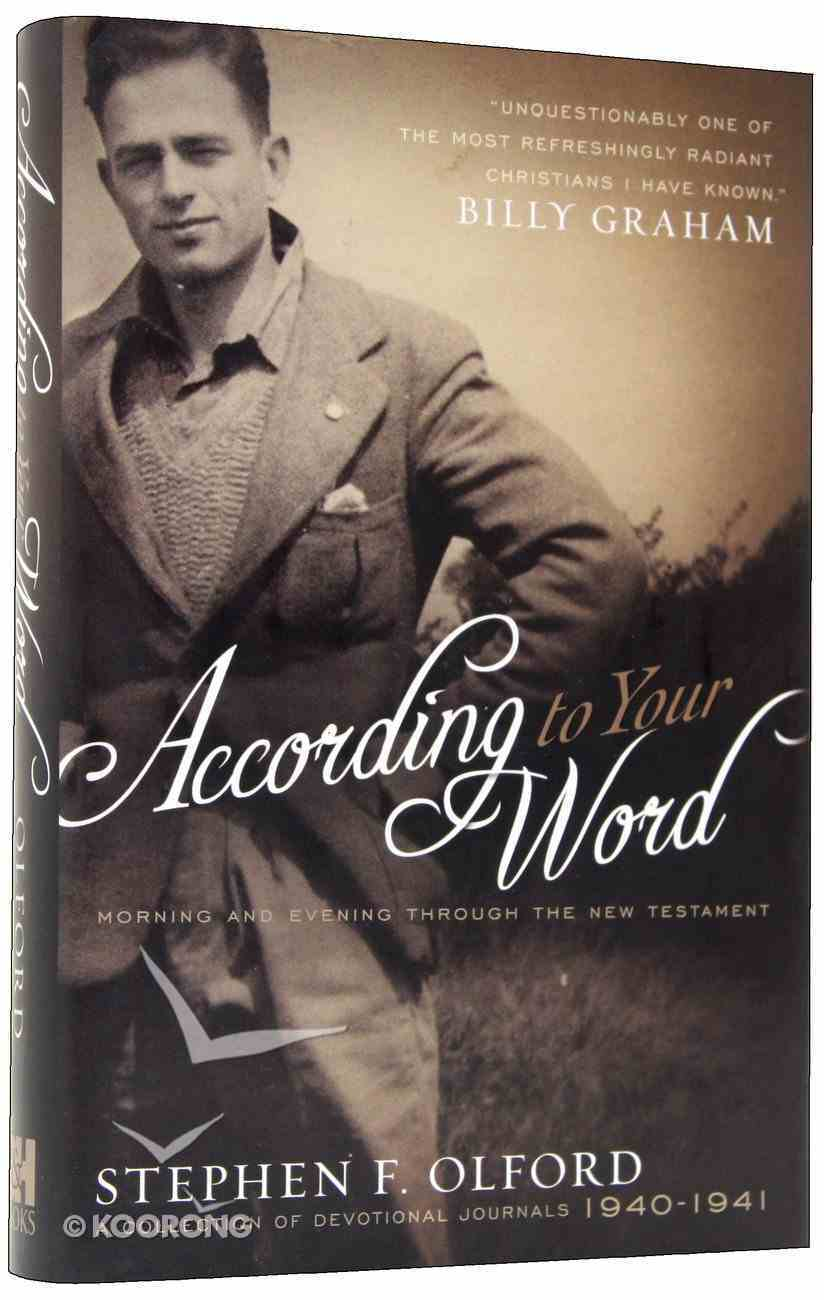 According to Your Word Hardback