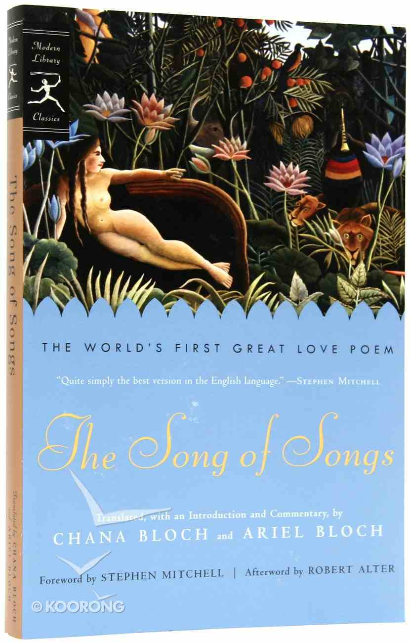 The Song Of Songs By Ariel Bloch Translator Koorong