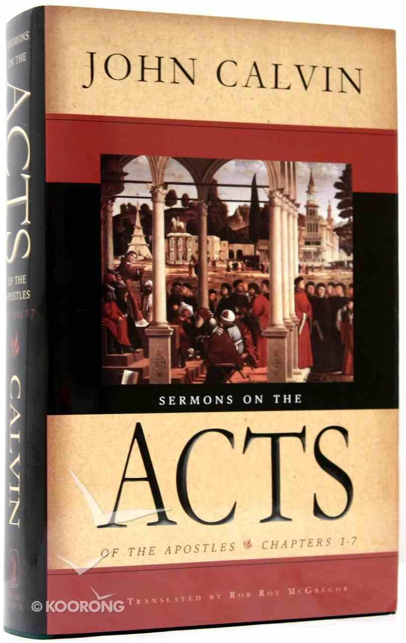 Sermon on the Acts of the Apostles Hardback