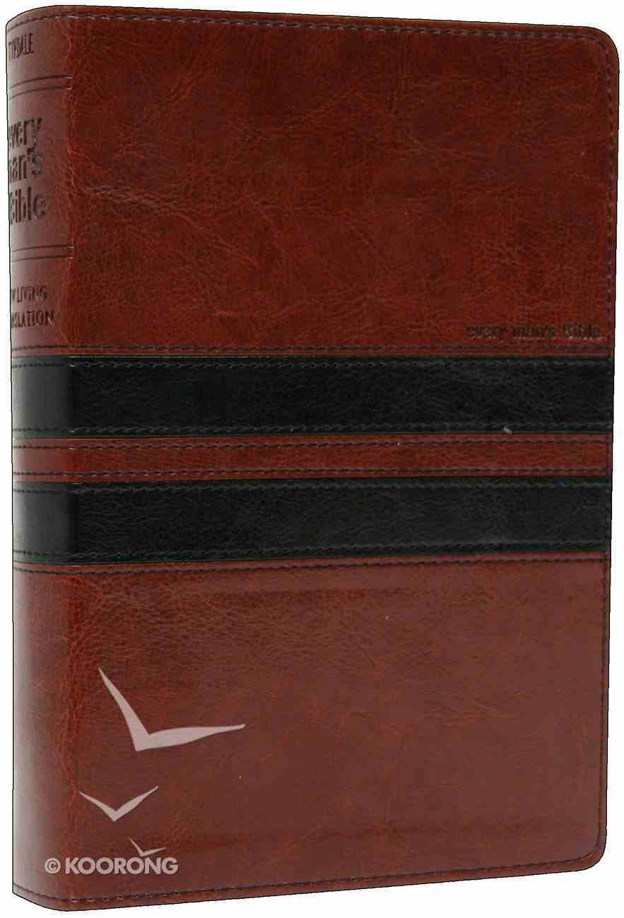 NLT Every Man's Bible Black/Brown Imitation Leather
