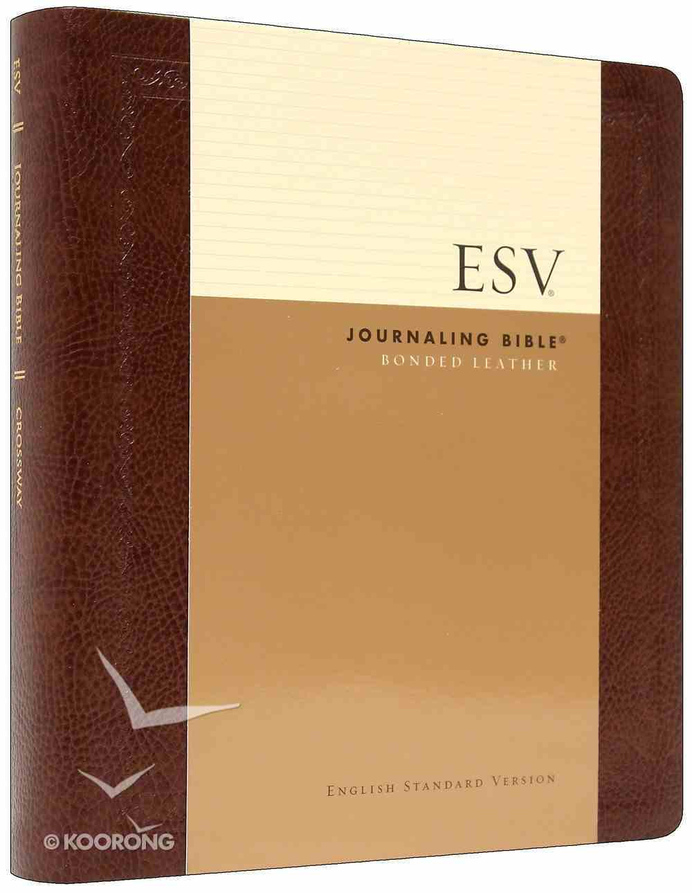 ESV Journaling Bible Mocha Threshold (Black Letter Edition) Bonded Leather