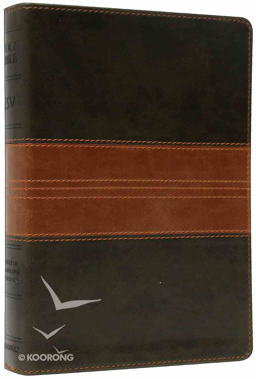 ESV Reference Bible Personal Size Trutone Forest/Tan Imitation Leather