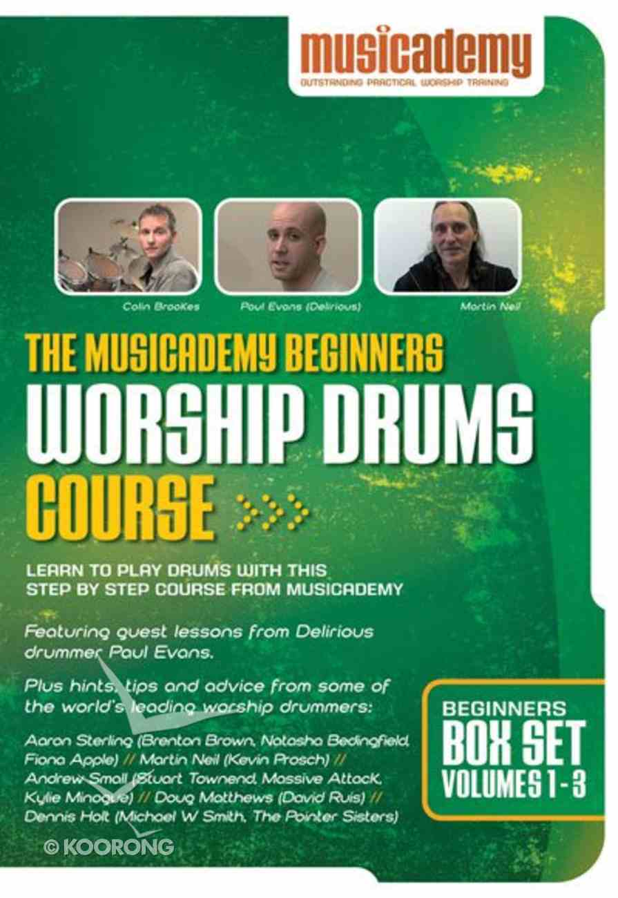 Musicademy: Beginner's Worship Drums Box Set (3 Dvd Set) DVD
