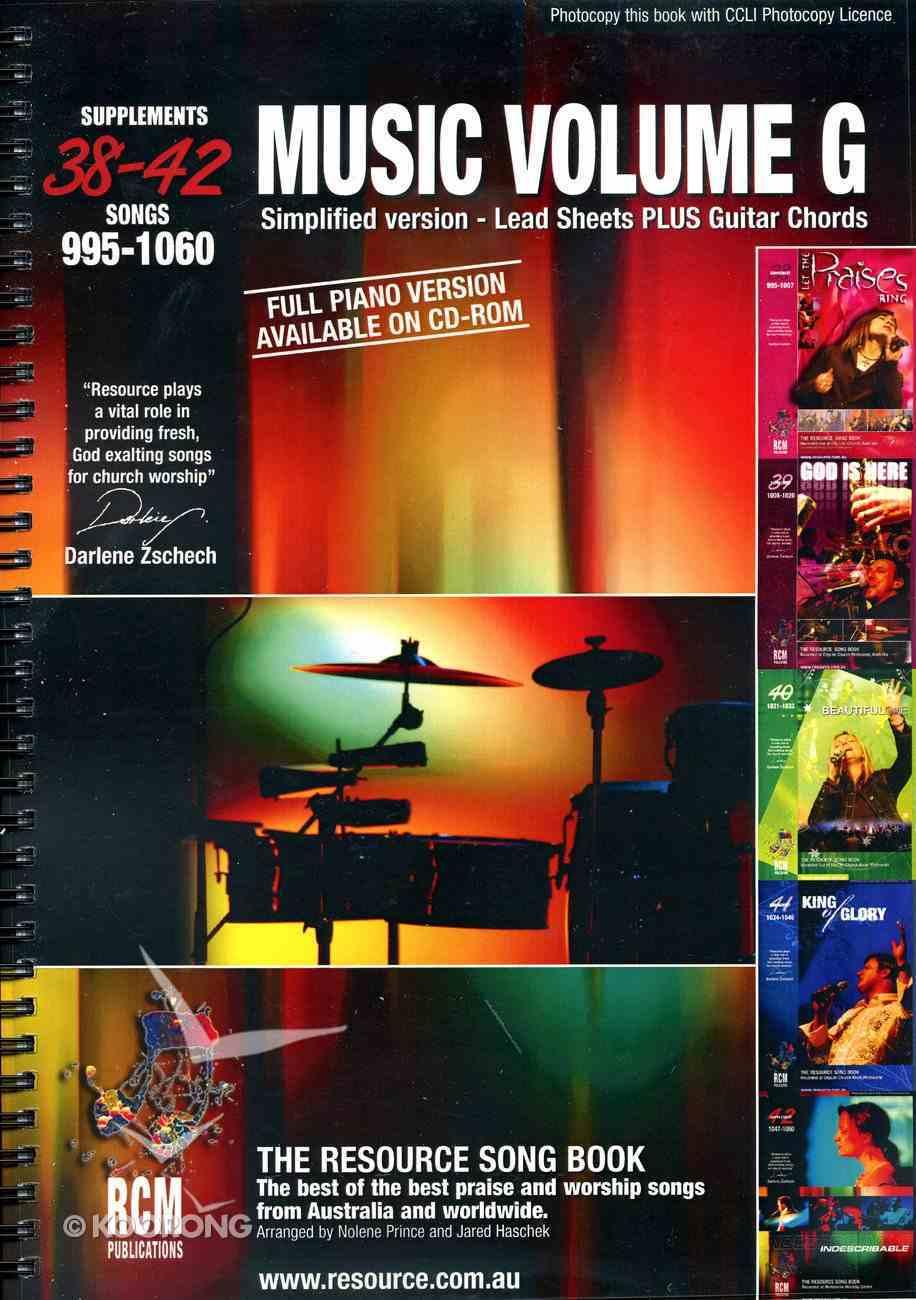 Rcm Volume G Music Book (Supp 38-42) Spiral