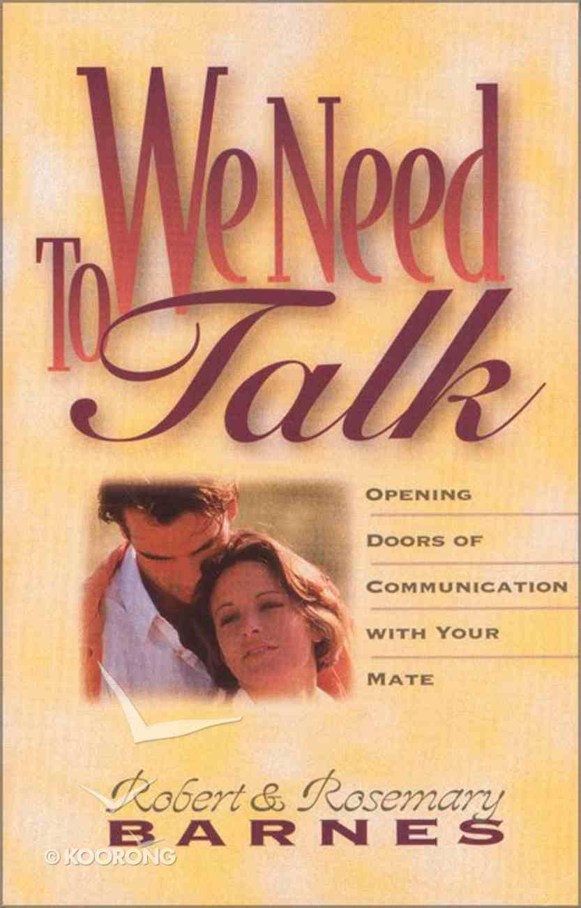 We Need to Talk Paperback
