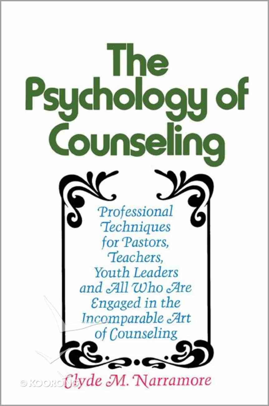 Psychology of Counseling Paperback