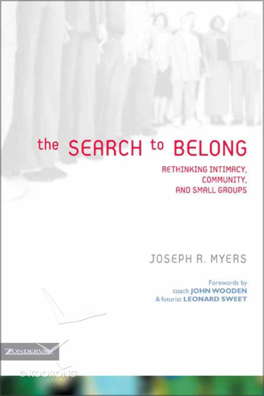 The Search to Belong Paperback