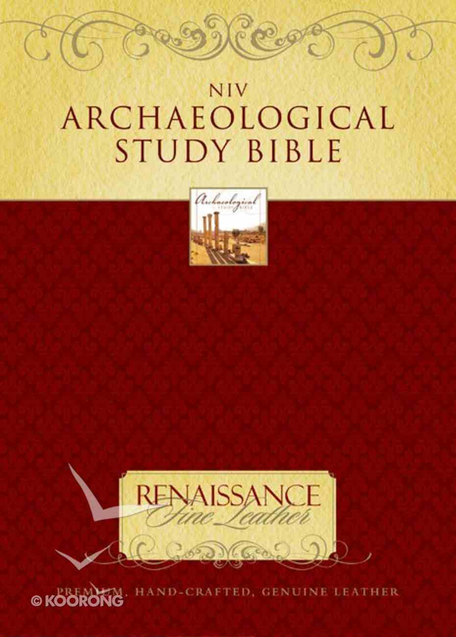 NIV Archaeological Study Bible, Brown (1984) Genuine Leather