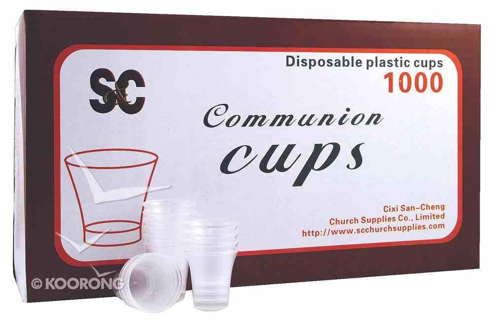 Communion Cups Clear Plastic (Box Of 1000) Church Supplies
