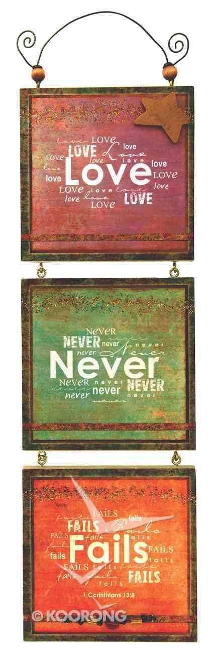 You're My Star 3 Tier Mdf Plaque: Love Never Fails Plaque