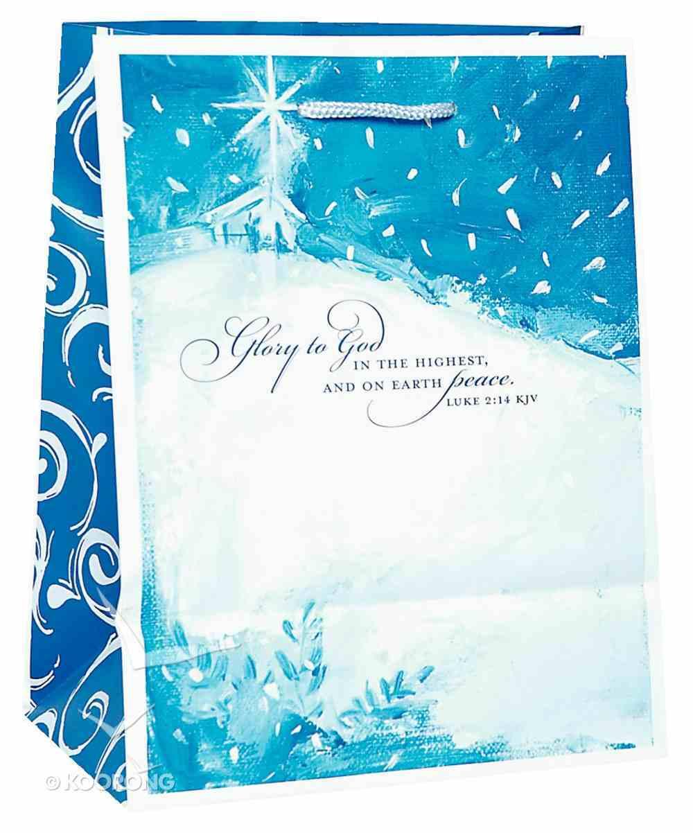 Christmas Gift Bag: Glory to God (Medium) Stationery