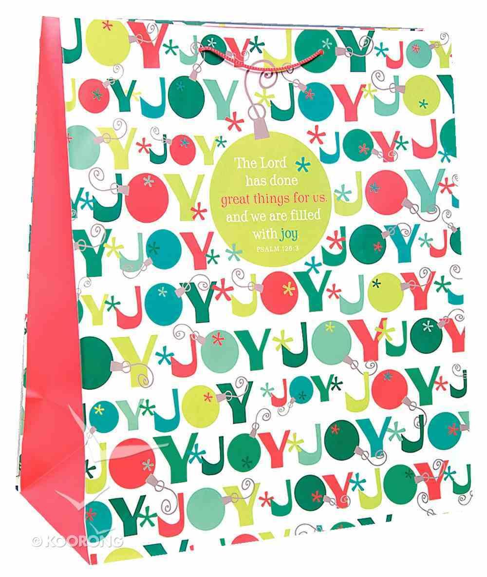 Christmas Gift Bag: Joy Ornament (Jumbo) Stationery