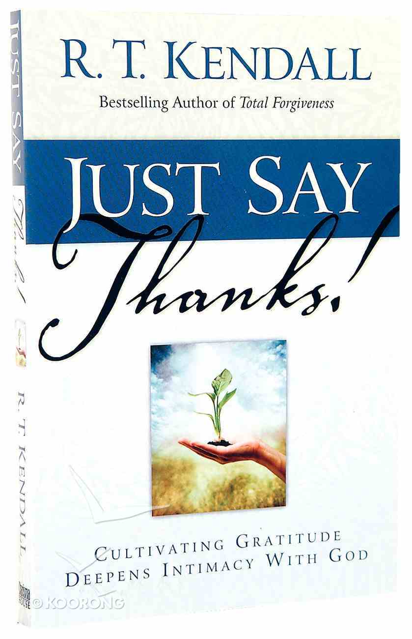 Just Say Thanks! Paperback