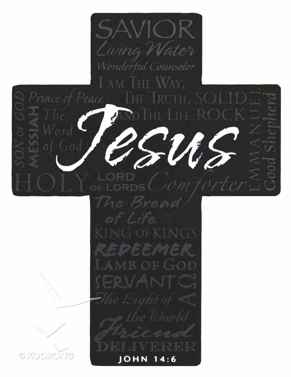 Mini Metal Cross Magnet: Jesus Homeware